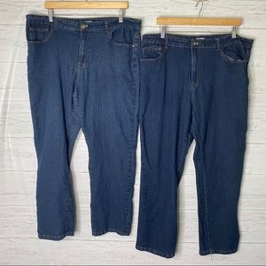Fiorella chic 2 pairs of distress wash jeans